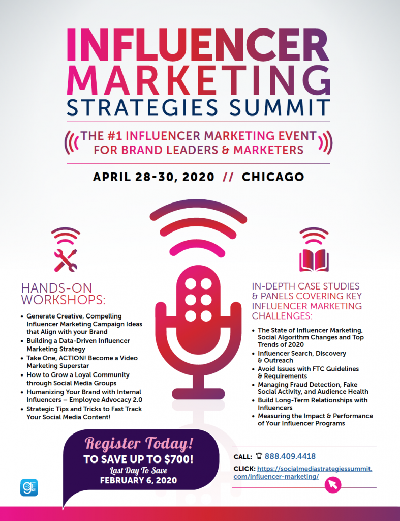 Influencer Marketing Strategies Summit Chicago 2020 1 | Digital Marketing Community