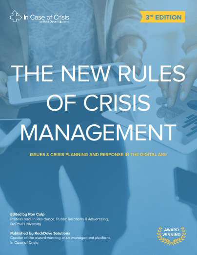 The New Rules of Crisis Management eBook — Third Edition 2019 | RockDove Solutions, Inc.