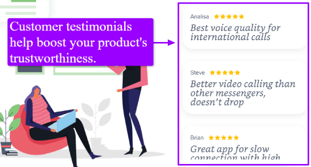 Customer Testimonials Examples, client testimonial examples by Pinggle