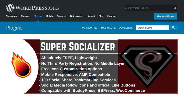 Super Socializer - Best WordPress Plugins