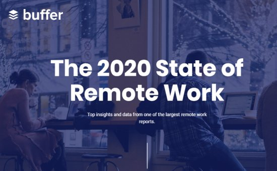 Remote Work Stats - Work form Home report by Buffer - Work from home stats 2020