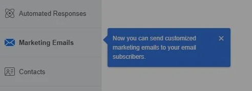 Facebook Allows Sending Marketing Emails Via Facebook Pages