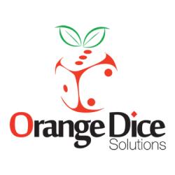 Orange Dice Solutions Logo: Web development company