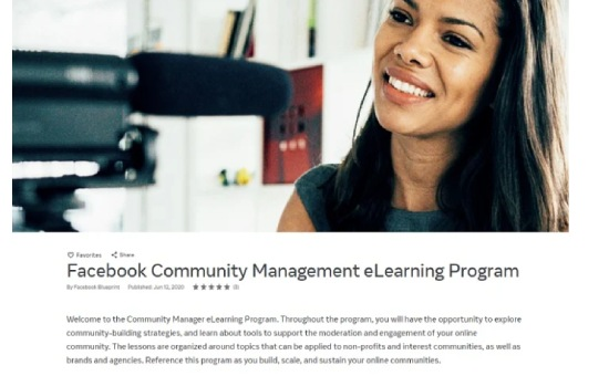New Facebook Courses in Effective Community Management