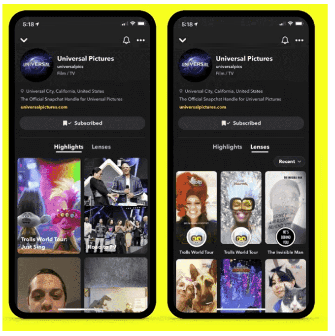 Snapchat Brand Profiles Are Added to Expand Business Appeal