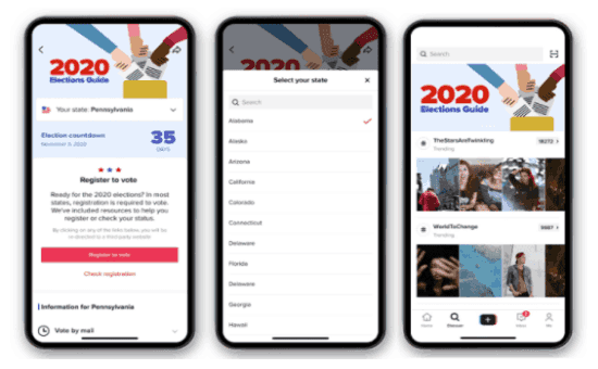 Check Out TikTok's Elections Guide in the US 2020 | DMC