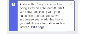 Check Out Facebook's Page Story Section Update 2021 | DMC