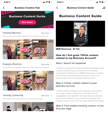 TikTok Adds New 'Business Creative Hub' to Highlight Relevant Trends and Tips in Brand Use 2 | Digital Marketing Community