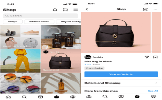 Instagram Tests New Ads on the Shop Tab to Highlight Specific Products 1 | Digital Marketing Community